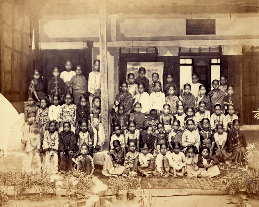 Group of pupils of the Juggunath Shankarset Girls' School, Bombay